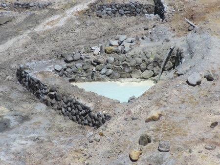 硫磺谷內之溫泉生成池