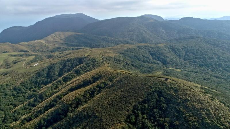 竹篙山頂及碉堡(空拍)