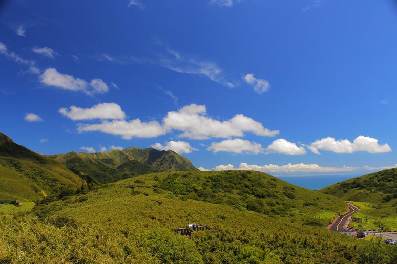 箭竹林步道遠眺竹子山